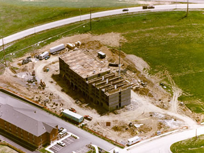 Amerisuites aerial view with Poured-in-place concrete construction