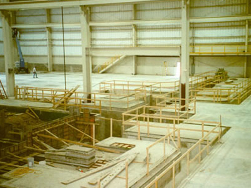 Pacific Manufacturing industrial facilities construction project showing the industrial floor and trenching